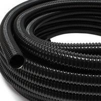 """Tubo di aspirazione 25m Ø 25mm (1"""""""") con spirale rinforzata nero - Made in Europe"""