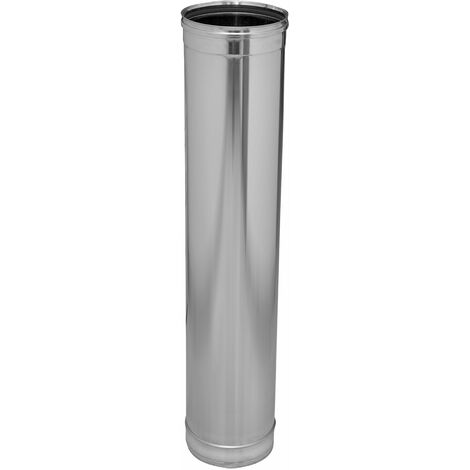 TUBO DINAK SIMPLE PARED/SW INOX 304 930X150MM