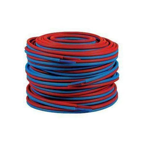 Tubo doble preencubierto PER 13x16 - 50m azul/rojo