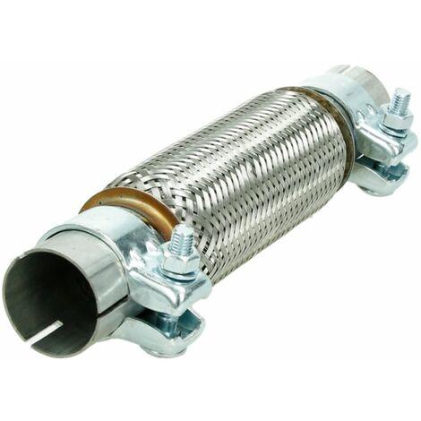 Tubo escape flexible 45x200/320 mm acero inoxidable 2x pinzas abrazaderas flexi