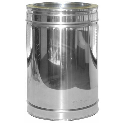 TUBO ESTUFA 440 MM INOXIDABLE DW 316L/304 80
