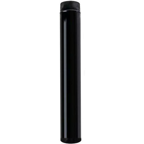 Tubo estufa color negro vitrificado de 130 mm.