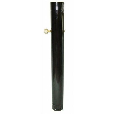 Tubo estufa con llave esmaltado negro 100 mm. 7500153