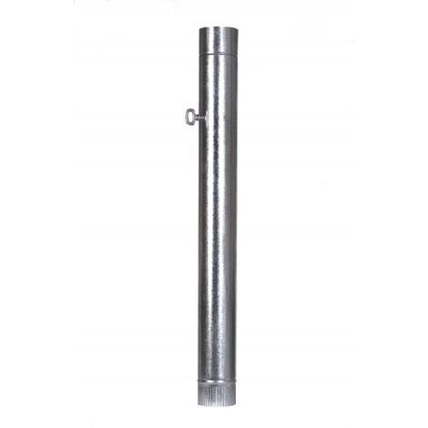 Tubo estufa con llave galvanizado 100 mm. 7500053