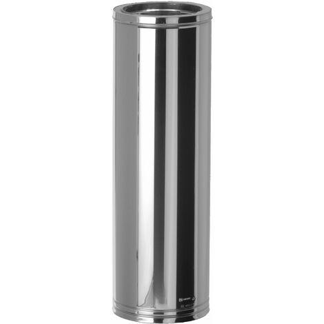 TUBO ESTUFA DOBLE PARED INOX 304/304 960 MM 175 MM