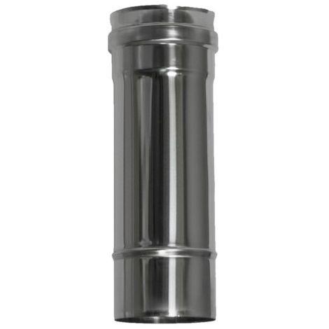 Tubo Estufa Pellet Ø80mm-25cm Inox Exojo