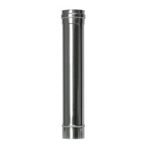 Tubo estufa pellet Ø80mm-50cm inox exojo
