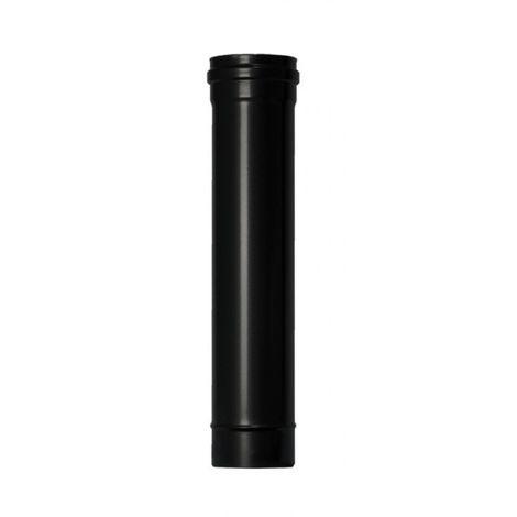 Tubo estufa pellet Ø80mmx50cm a/esm/vitr. ne exojo