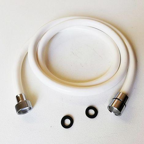 Tubo flessibile doccia bianco in pvc