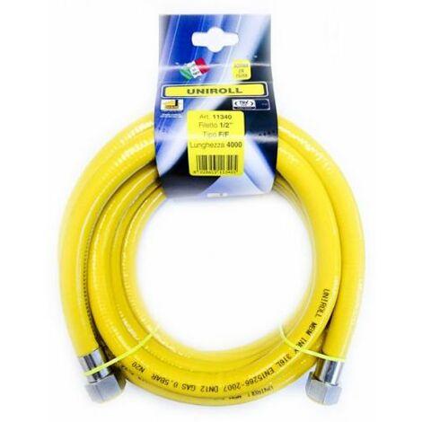 "Tubo flessibile GAS CUCINA 4 metri 1/2 FF "" GAS inox A NORMA..."