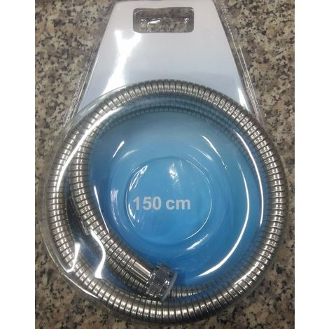 Tubo flessibile per doccia vasca doccetta estensibile in acciaio inox 150-200 cm
