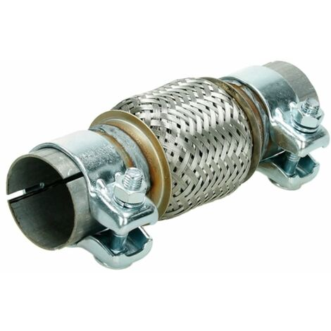 Tubo flexible acero inoxidable montaje universal 50x100/220 mm+2 pinzas flex