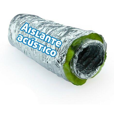 Tubo flexible aislado acústico para aire acondicionado y climatizacion -Disponible en varias versiones