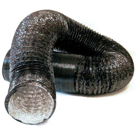 Tubo flexible aluminio PVC negro -Disponible en varias versiones