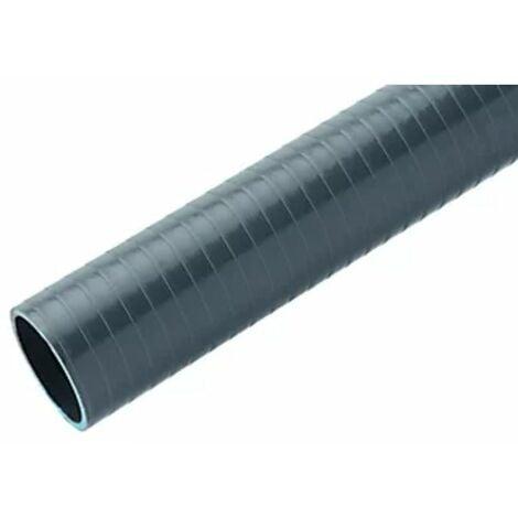 TUBO FLEXIBLE EVACUACION PVC 40MM R.25MT GRIS