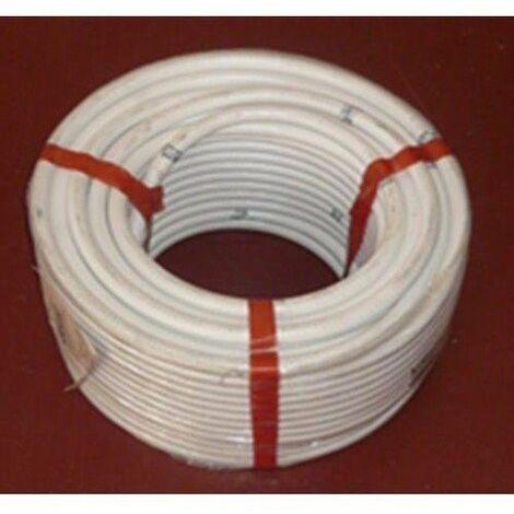 TUBO FLEXIBLE PVC 16 MM HIDROTUBO R.25MTS BLANCO