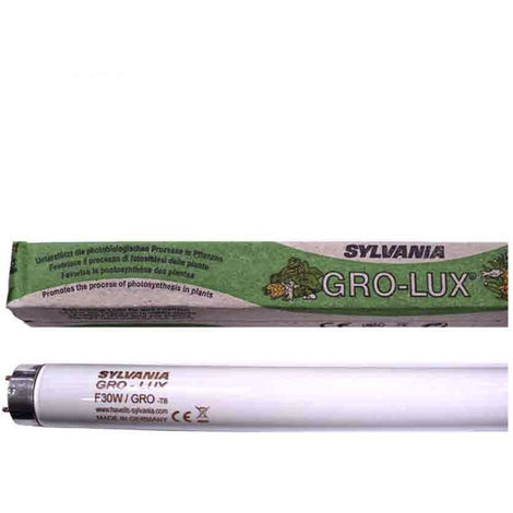 Tubo Fluorescente 15W T-8 (Grolux) Especial Crecimiento De Plantas Sylvania - NEOFERR..