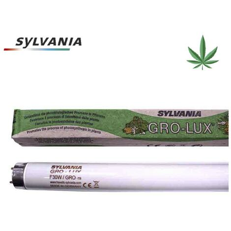 Tubo fluorescente 18w t-8 (grolux) especial crecimiento de plantas sylvania