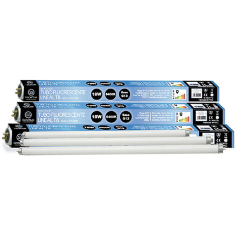 Tubo fluorescente lineal T8 G13