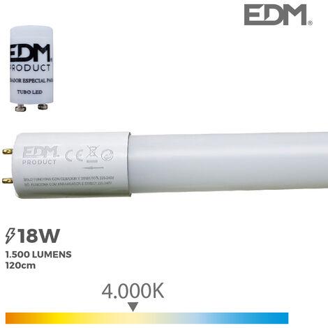 Tubo led LED T8 18w 1500 lm 4000k luz dia EDM 31198