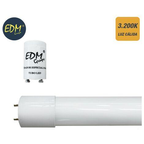 Tubo led t8 18w eco 3200k luz calida (equivalente 36w) EDM 31194