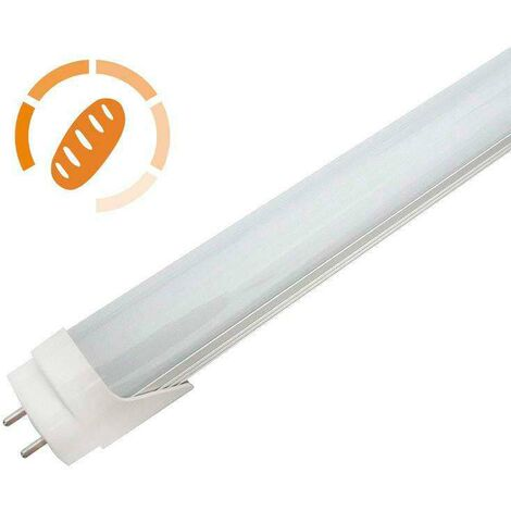 Tubo LED T8, 9W, 60cm, Pan y repostería, Blanco cálido 2700K - Blanco cálido 2700K
