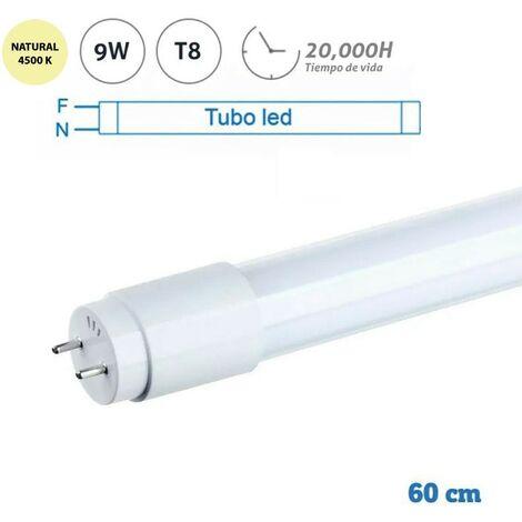 Tubo LED T8 de 9W y 60 cm 4500K
