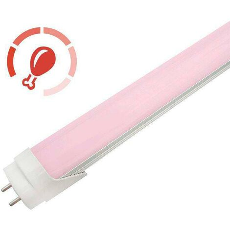 Tubo LED T8 especial Carnicerias, 18W, 120cm, Rosa/Magenta