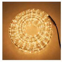 Tubo luminoso 360 luci bianco caldo ad incandescenza con controller 10 mt