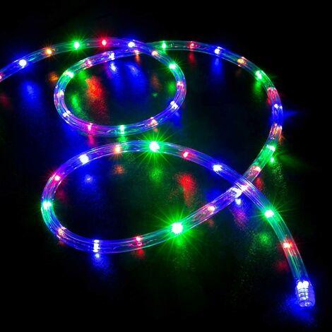 Tubo luminoso luces Navidad exterior Led energía solar