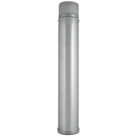 TUBO PELLET 0,5 M. INOX 316. Ø 80 mm.