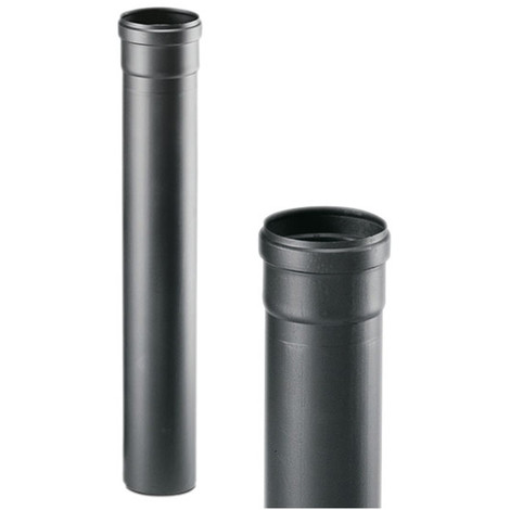 Tubo Stufa Pellet Nero Acciaio 1 Mt D.80 mm Apros Certificato Spessore 1,2 mm