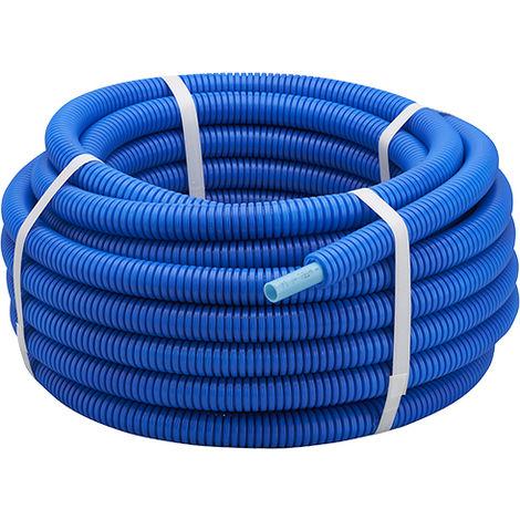 Tubo PER corrugado azul