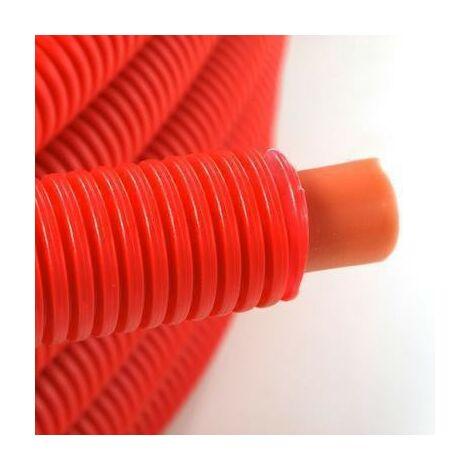 Tubo preencubierto PER 16x20 - 50m rojo