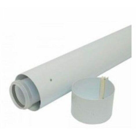 Tubo prolongación 60/100 X 0.5 mt. para calderas de condensación de Vaillant