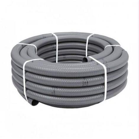 TUBO PVC FLEXIBLE 40MM. 25M. EVACUACION GRIS 3261