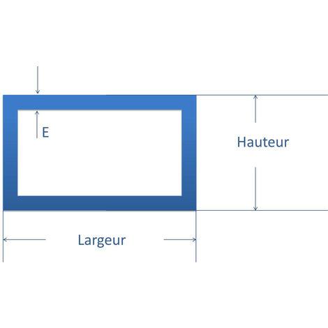 Tubo rectangular acero 30x15 mm