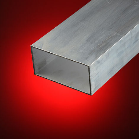 Tubo rectangular aluminio 100x20 mm | 1 metros