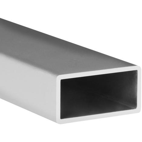 Tubo rectangular de aluminio, acabado en anodizado mate y 1000 mm de largo. Ref. 9006.2010.63