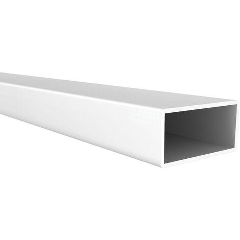 Tubo rectangular de aluminio, acabado en anodizado mate y 1000 mm de largo. Ref. 9006.4020.63