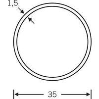 Tubo redondo del HT, 35mmcomo, 0 66 6801. F69 mate