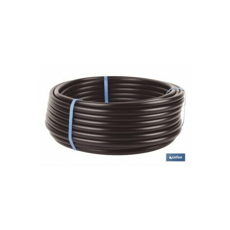 Tubo riego goteo negro 50m sin goteros Ø16mm