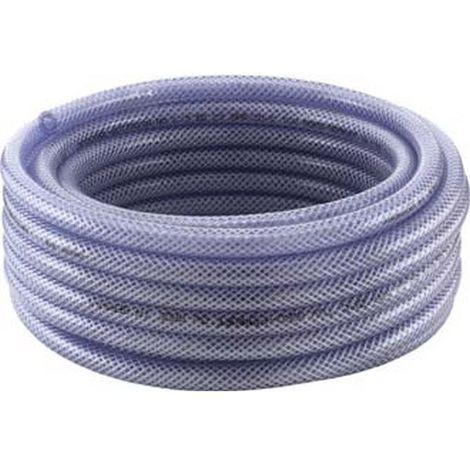 Tubo tejido de PVC, transparente 9 x3mm 50m