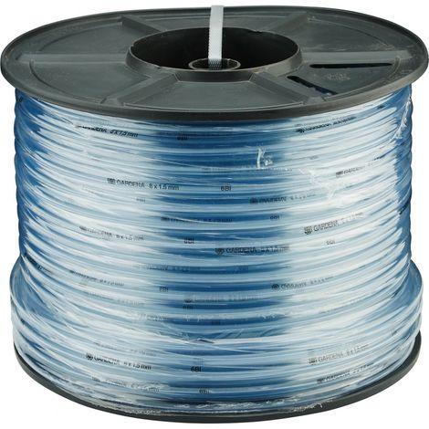 Tubo transparente sin Tejido multicolor 6 x 15 mm - bobina plástica 100 m - Gardena 04953-20 (por 100)
