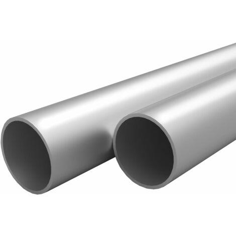 Tubos de aluminio redondos 4 unidades 1 m Ø25x2mm