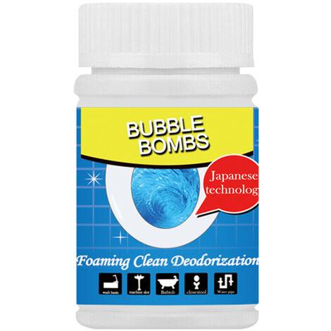 Tubos de gran alcance de dragado agente espumante de limpieza desodorizacion del fregadero cuarto de desague de la cocina Alcantarilla limpiador de banos de burbujas, 100g