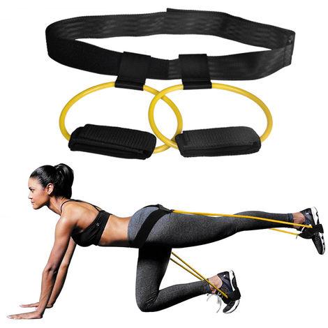 Tubos de resistencia al ejercicio, para entrenamiento de gimnasio,Amarillo