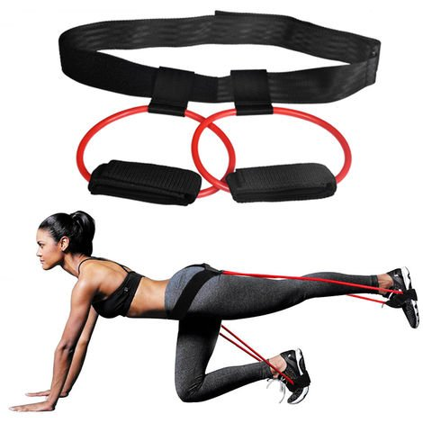 Tubos de resistencia al ejercicio, para entrenamiento de gimnasio,rojo