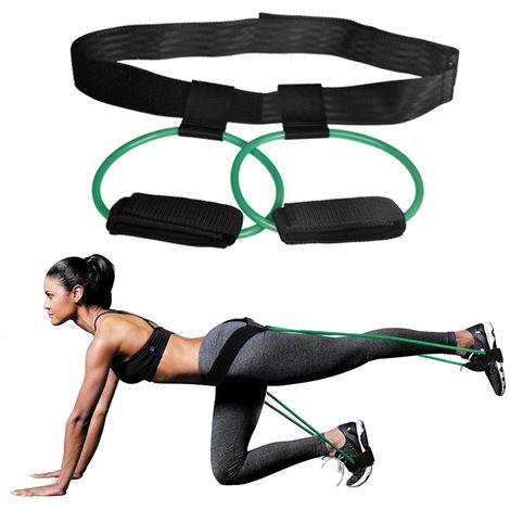Tubos de resistencia al ejercicio, para entrenamiento de gimnasio,Verde