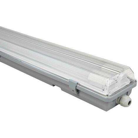 Tubos de tubo LED luminaria taller almacenes pasillos lámpara de techo húmeda habitación húmeda MC SHINE 1451695